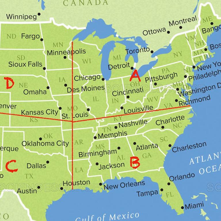 Zone A, B, C or D - Open Destination 3
