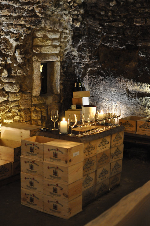 Tasting Cave at Les Caves St. Charles