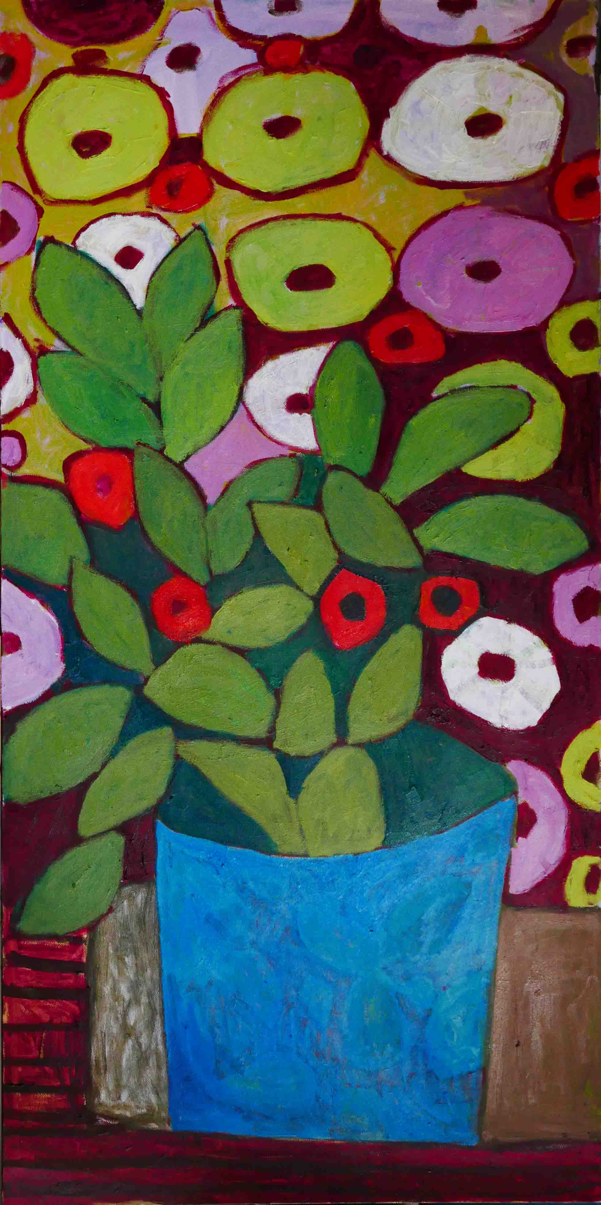Blue Plant 100x200cm, Oil on canvas