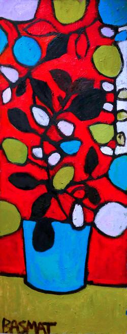 Lemon Tree 70x180cm, Oil on canvas