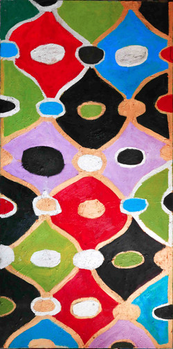 Dimonds 100x200cm  Oil on canvas