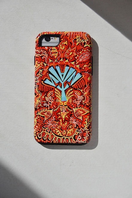 iphone case, logo, red