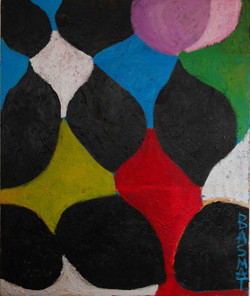 Checkers122x150cm  Oil on canvas