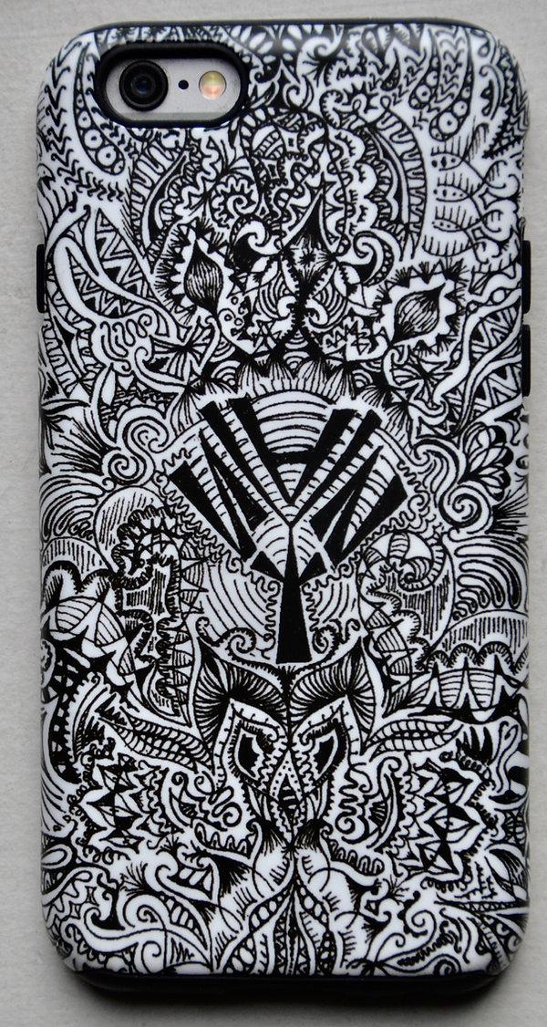 iphone case, black, design