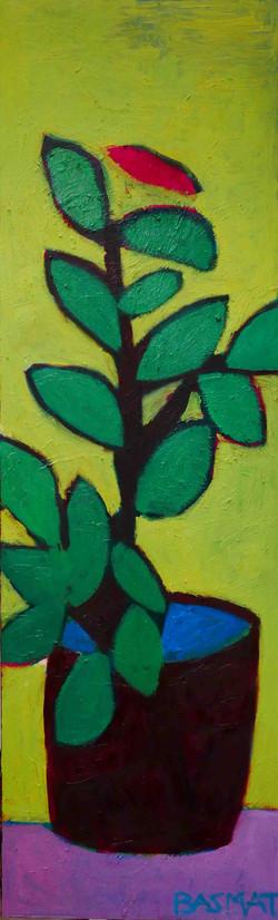 Plant In The Sun 70x330cm, Oil on ca