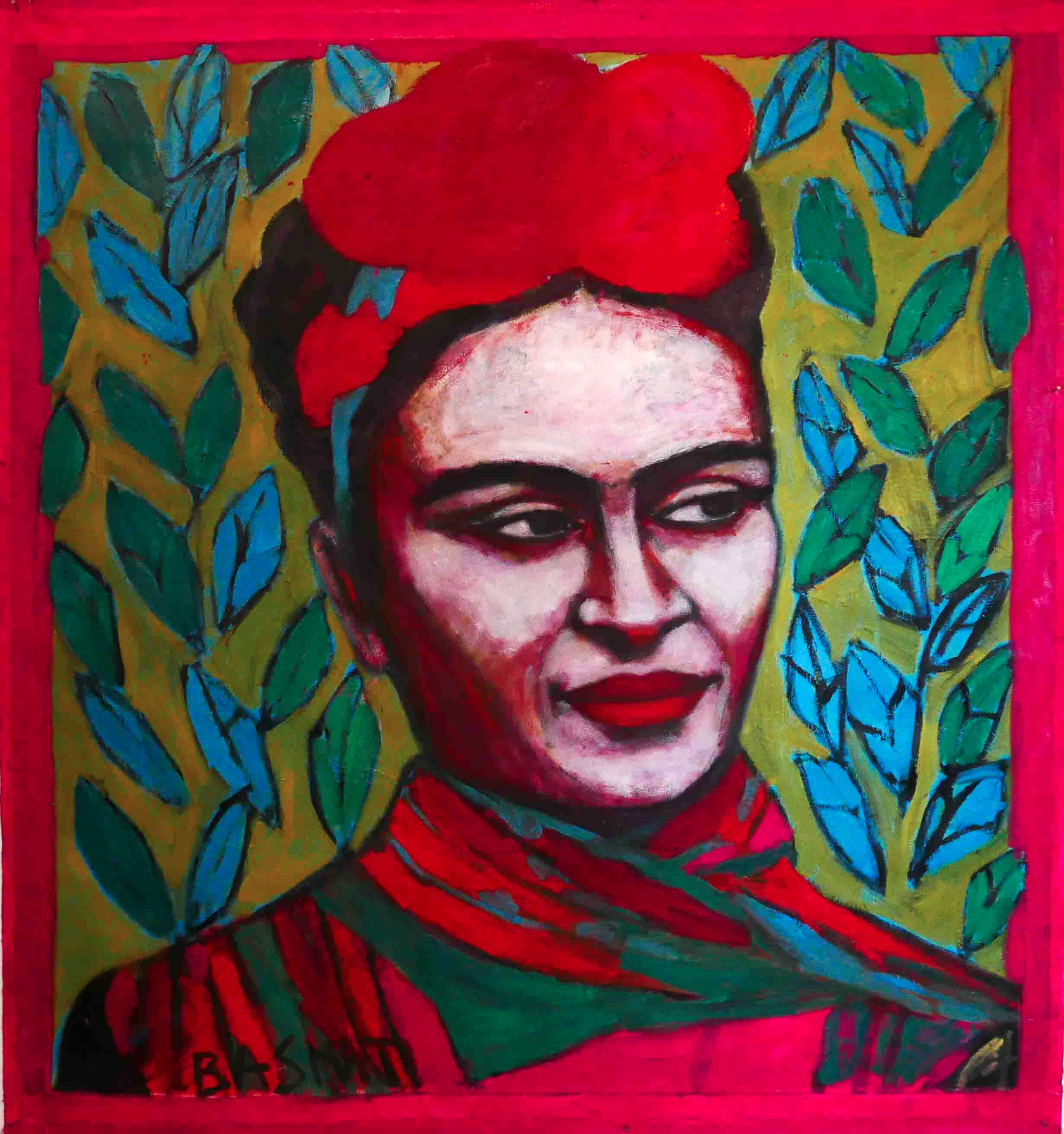 Frida  160x170cm, Oil on canvas