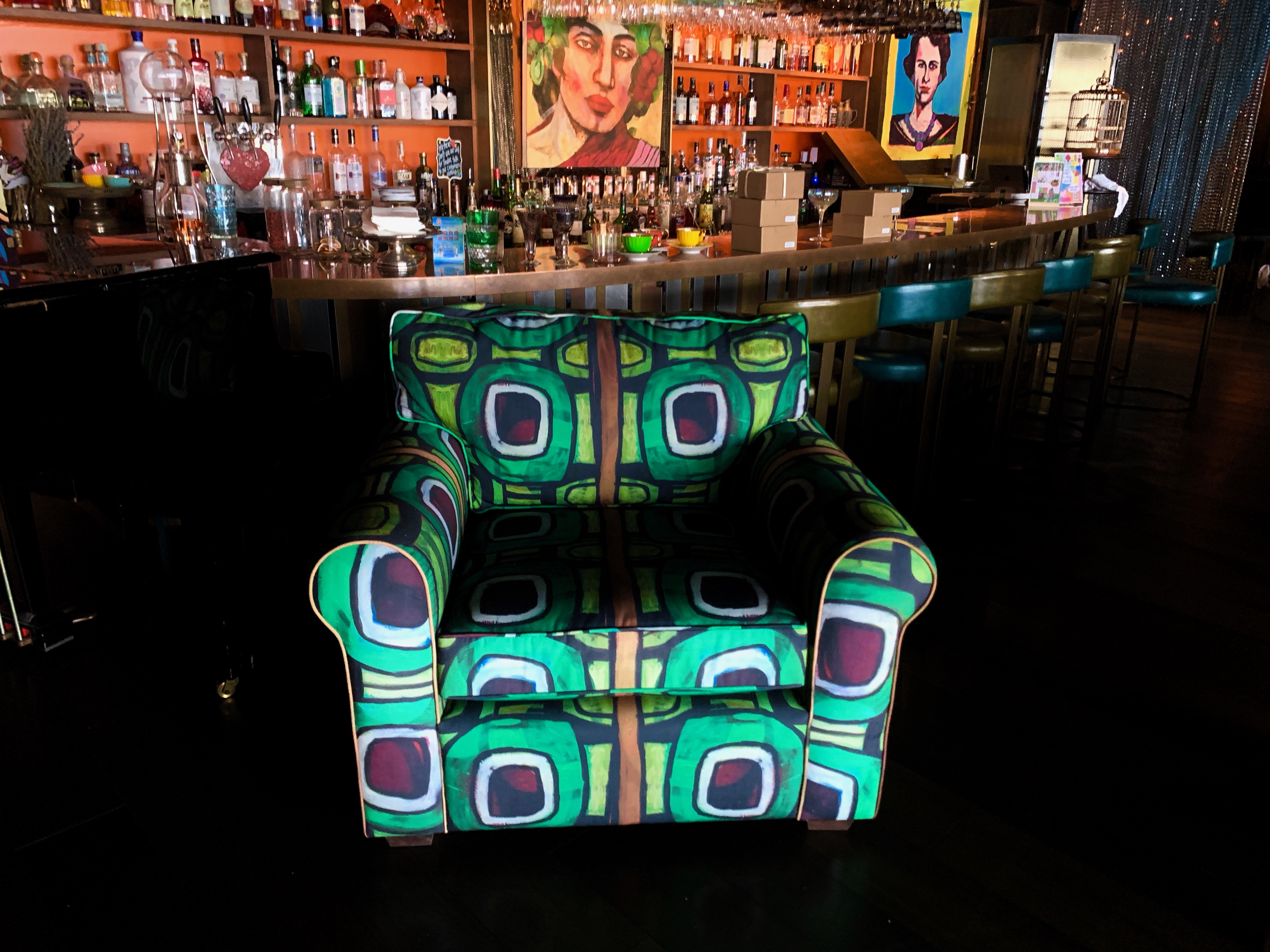 RECYCLED FABRIC ON CHAIR