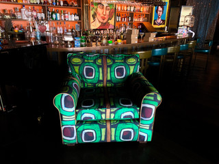 RECYCELED  FABRIC ON CHAIR