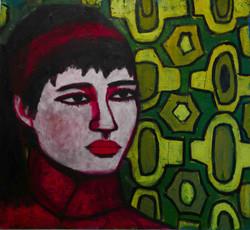 Clara 130x140cm, Oil on canvas