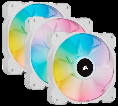 Corsair SP120 RGB Elite White (3 Fan Pack with Lighting Node Core)