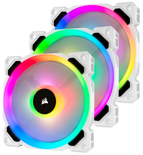 Corsair LL120 Light Loop RGB White Edition (3 Fan Pack with Lighting Node PRO)