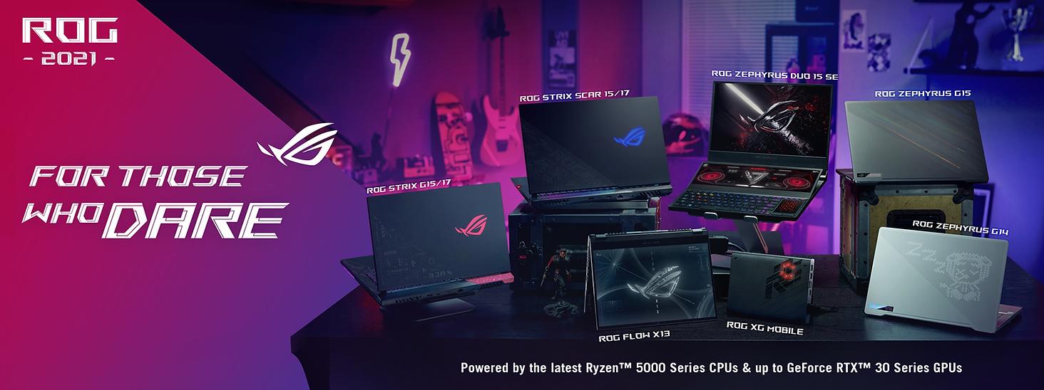 rog amd ryzen 5000 laptop full lineup ba