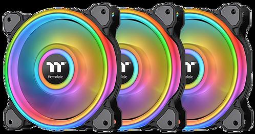 Thermaltake Riing Quad 12 RGB Radiator Fan TT Premium Edition Black (3-Fan)