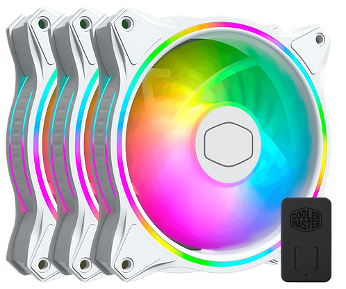 Cooler Master MasterFan MF120 Halo ARGB White Edition 3 in 1 Pack