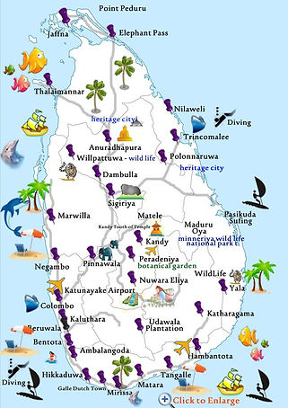 Sri Lanka Tourism Map