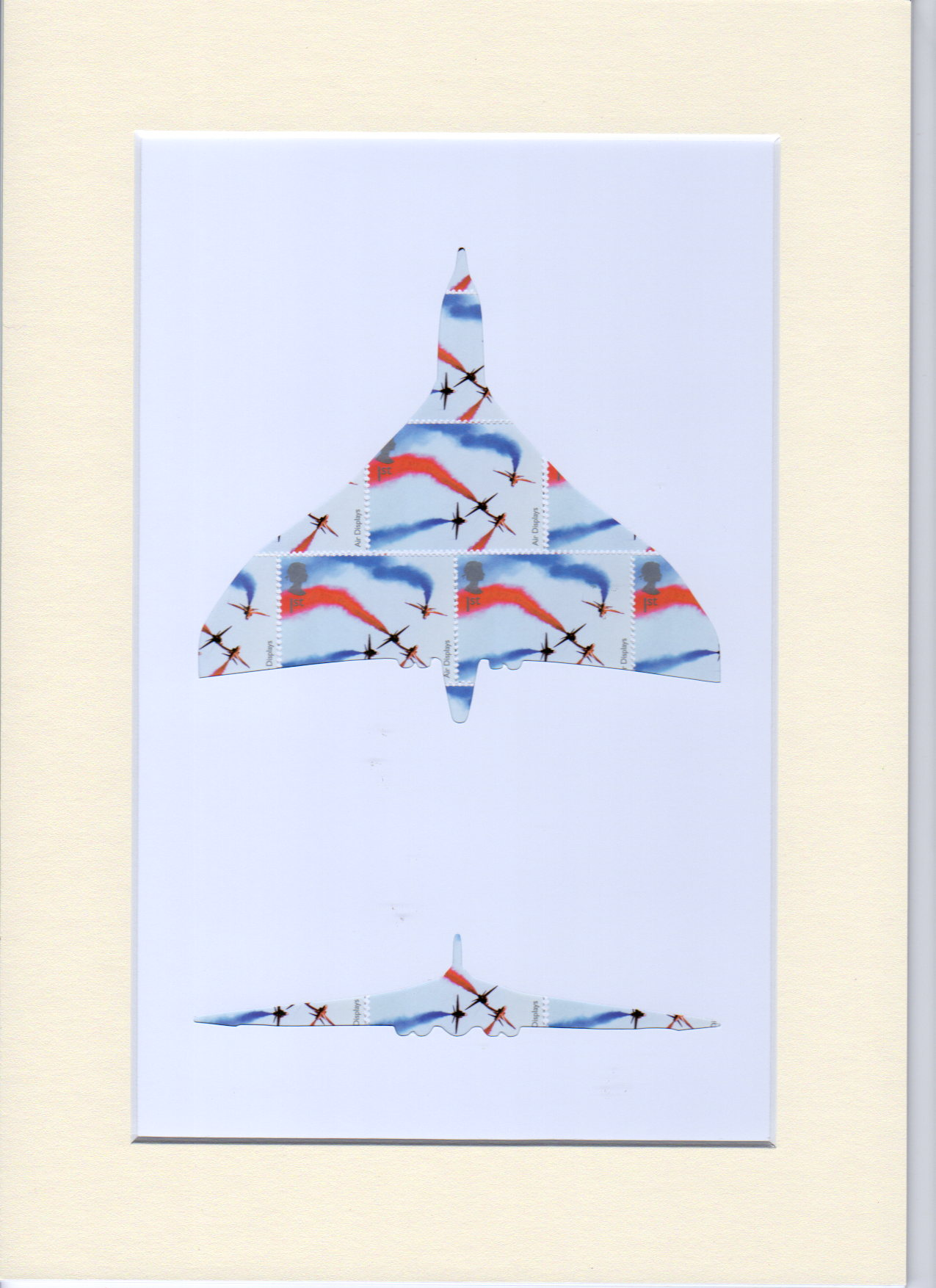 vulcan aircraft stamp art