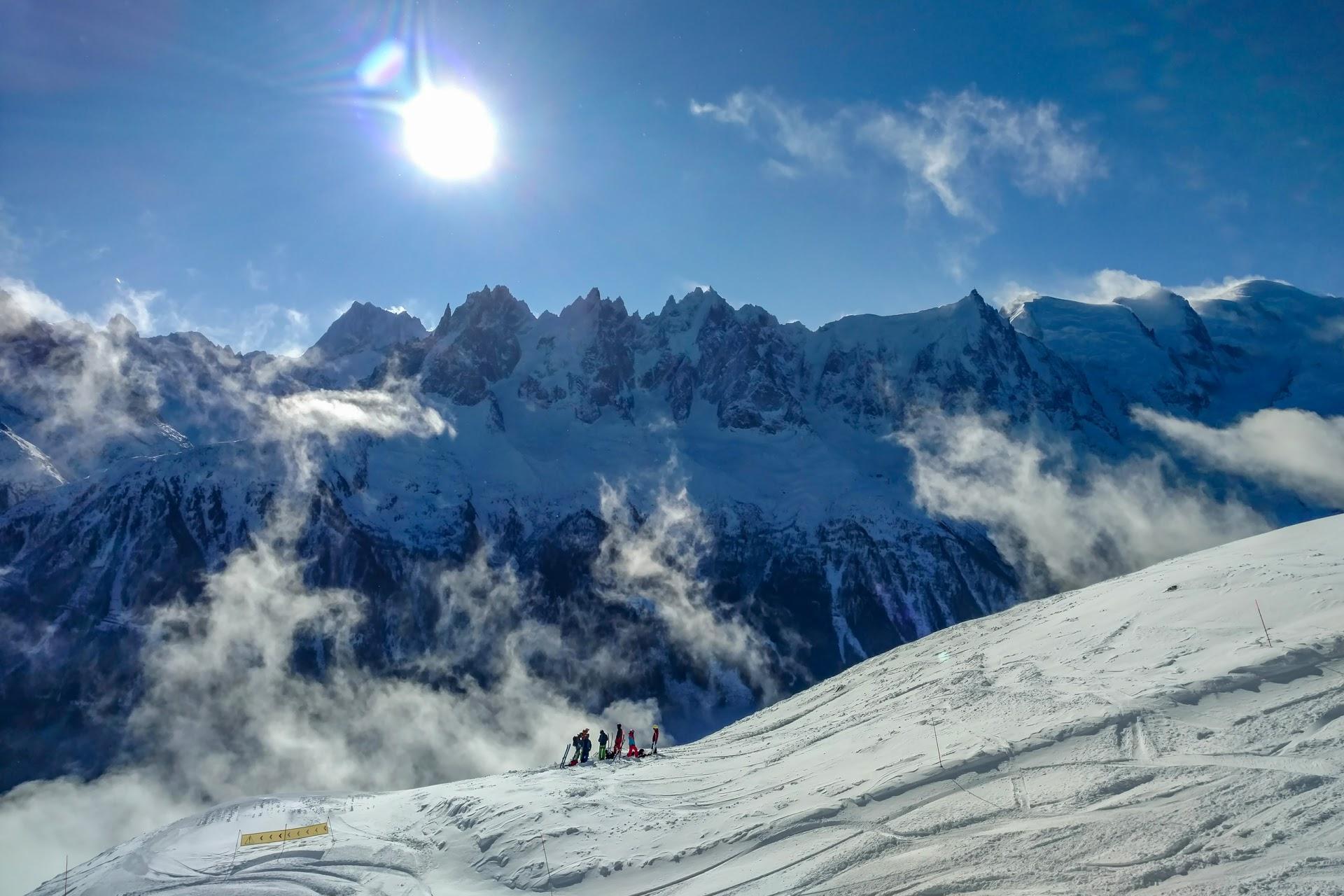 Brevent - skiers