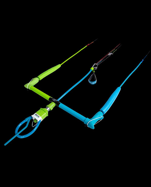 blue and green 2019 Crazy Fly Sick Bar front view