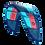 2019 Duotone Rebel blue north kite hangtime freeride