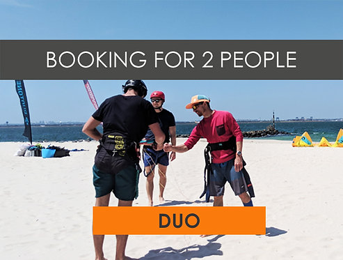 2hr Duo Beginner Kiteboarding Lesson (Booking for two!)