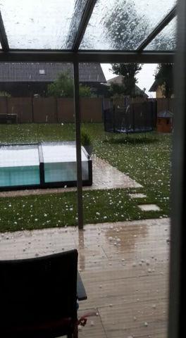 Pool Enclosure VS Hail storm!