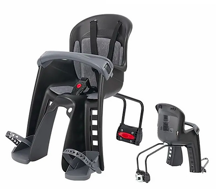 POLISPORT BILBY JUNIOR FF - CHILD BICYCLE SEAT BLACK WITH REAR MOUNTING SYSTEM