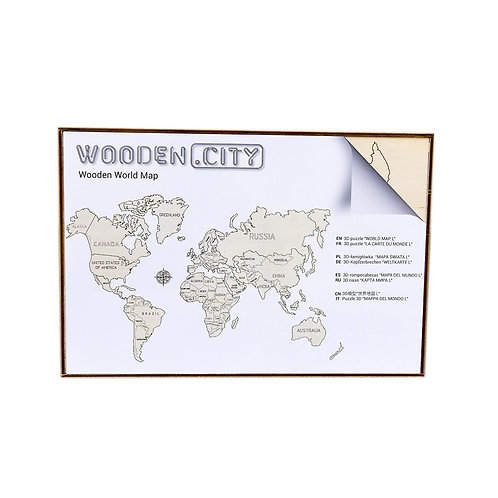 Woodencity: World Map L WM 502 (9)