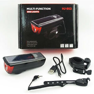 Front Light (350 lm) Solar/USB/Powerbank/140 dB Horn
