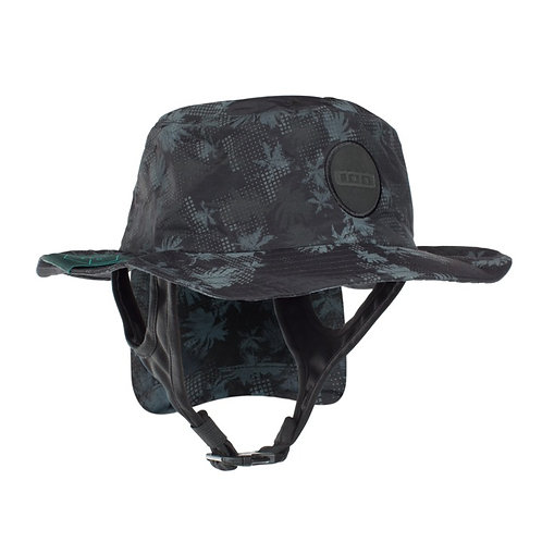 ION Beach Hat as protection while Kitesurfing in colour black grey