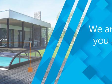 We are the main importer of telescopic pool enclosures to Australia!