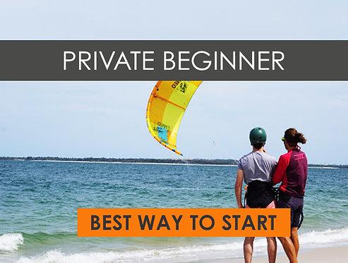 2 HR WEEKEND Private Beginner Kiteboarding Lesson