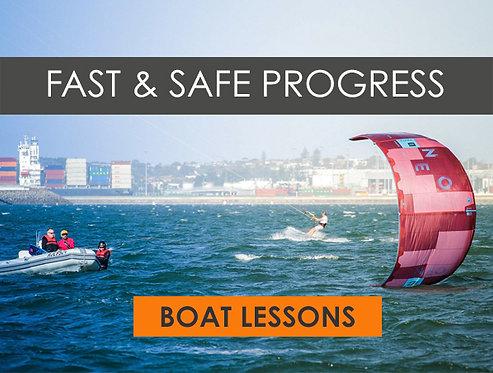 2.5hr Kiteboarding BOAT Lesson / Intermediate