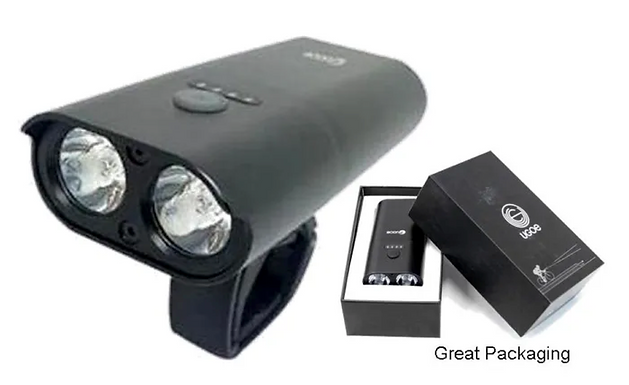 NIGHT RIDING SUPER BRIGHT 1500 Lumen LIGHT, USB Rechargeable