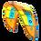 2019 Duotone Rebel yellow north kite hangtime freeride