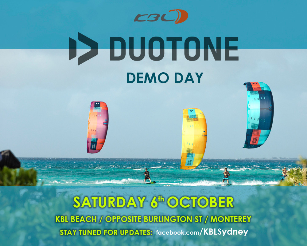 Duotone demo day with KBL in sydney