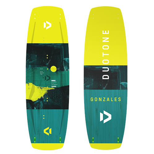 Duotone Gonzales Twintip Board for Kitesurfing front and back view