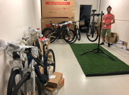 NEW EBIKE WORKSHOP SET UP IN PROGRESS / CARINGBAH_NSW