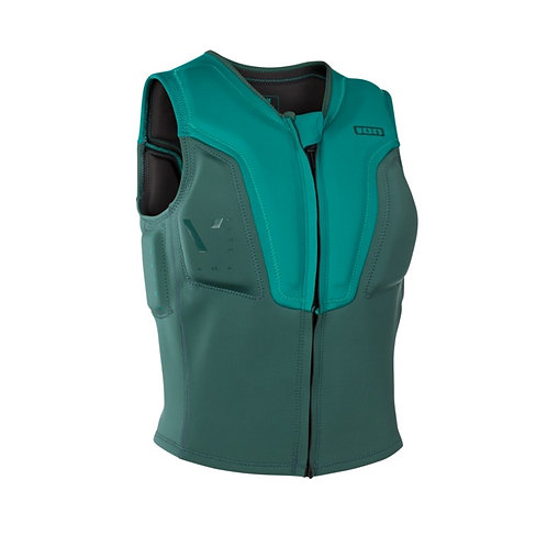 2019 ION vector vest amp kitesurfing colour golf green/seaweed front view