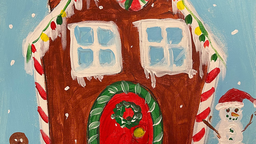 "Gingerbread House Paint Kit (11x14"")"