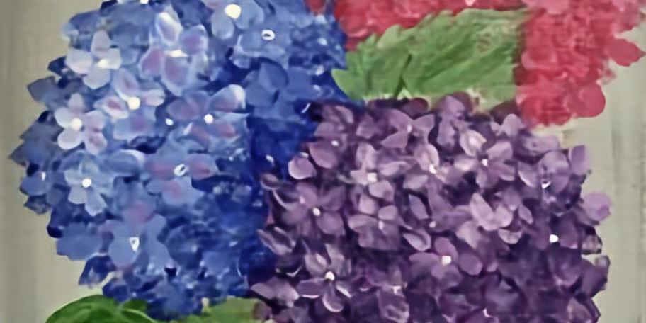 Canvas Painting - Hydrangeas