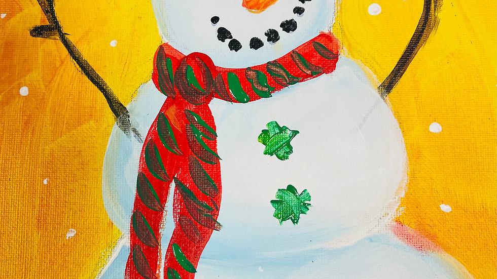 """Snowman Paint Kit (11x14"""")"""