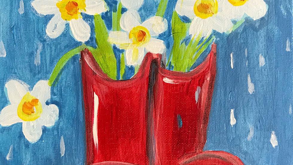 "Rain Boots Paint Kit (16x20"")"