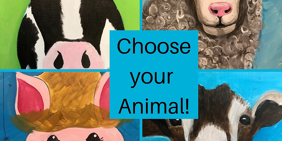 All Ages Canvas Painting - Farmyard Animals