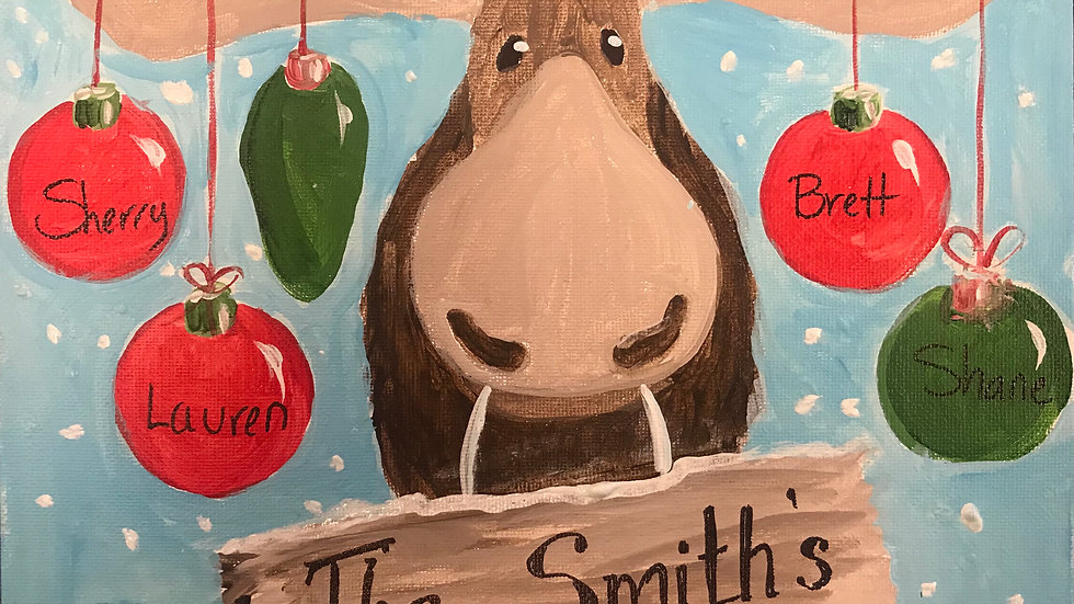Holiday Moose Paint Kit (16x20)