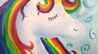 """Rainbow Unicorn Paint Kit (11x14"""")"""