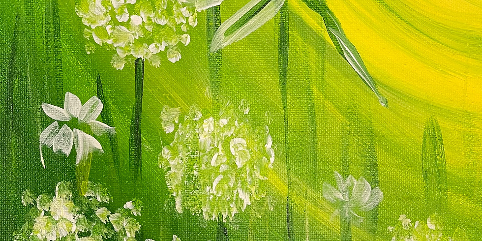 """All Ages Canvas Painting - Dragonfly Dandelion 11x14"""""""