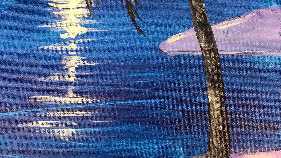 """Tropical Moonscape Paint Kit (11x14"""")"""