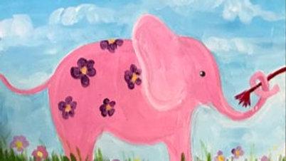 """Elephant Kid Paint Kit (11x14"""")"""