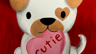 """Dog with Heart Paint Kit (11x14"""")"""