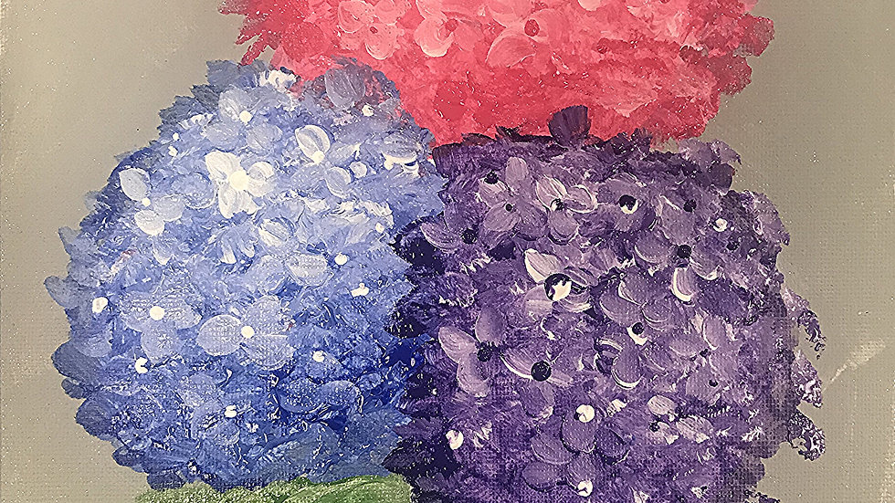 "Hydrangeas Paint Kit (16x20"")"